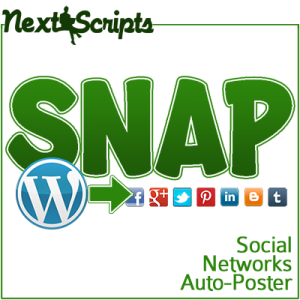 Social Networks Auto-Poster(SNAP) – Version 2.0 Public Beta