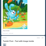 "Tumblr: ""Text"" post vs ""Image"" Post"